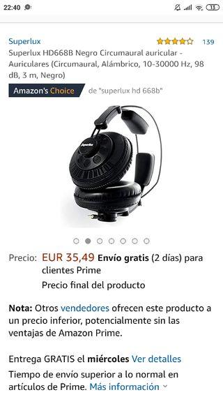 Auriculares Superlux HD668B Negro