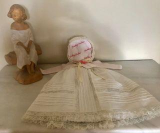 Vestido de bautizo con capota Paloma Ensenart