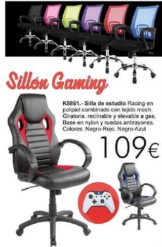 Silla Gaming Estudio oficina