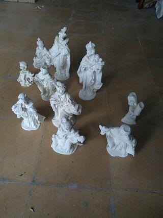 Lote de figuras de marmolina