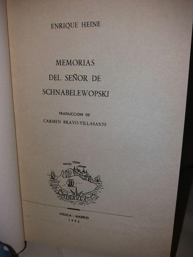MEMORIAS DEL SEÑOR SCHNABELEWOPSKI