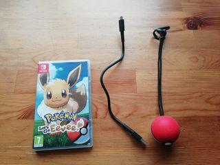 pokemon let's go Eevee con pokeball plus