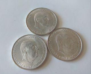 3 monedas plata 100 pesetas