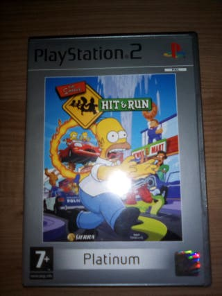 Juego ps2 the simpsons hit & run