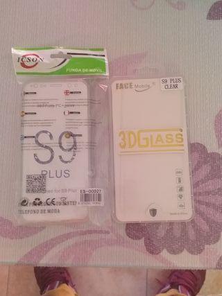 cristal templado de sangumg s9 plus