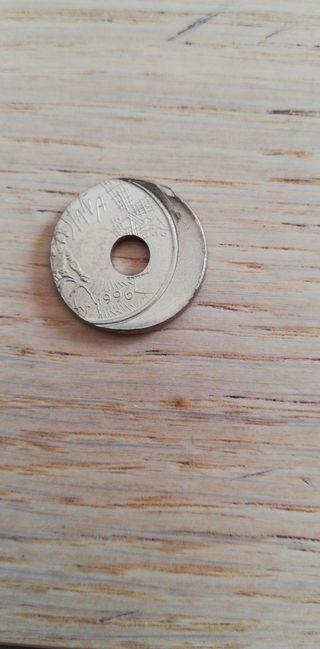 Moneda de 25 pesetas TARA unica