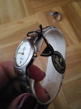 reloj bassel acero inoxidable sumergible 50m chica