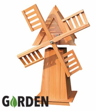 Garden Decorative Wooden Windmill