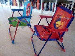 sillas playeras niños