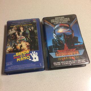 2 Peliculas VHS 'La banda de la mano'