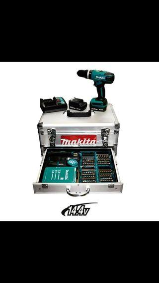 Maletin Makita Taladro Atornillador con accesorios