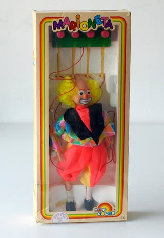 Marioneta payaso de plástico Marca Toy Color Spain