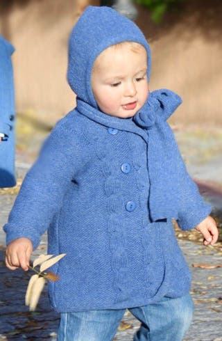 Abrigo punto azul, granate o gris con capota Ancar