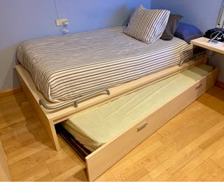 Cama juvenil 110x200 con cama nido