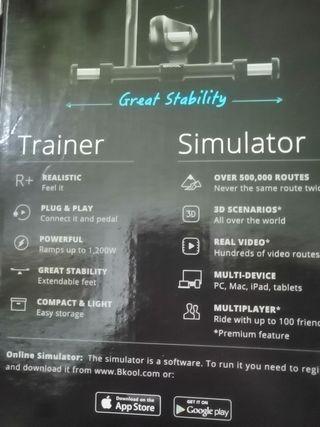 rodillo, trainer+simulador bqool pro