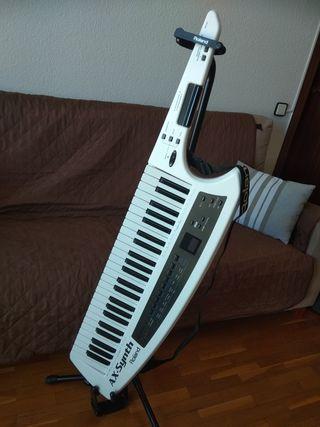 keytar roland ax-sytnh + case + pie + inalambrico