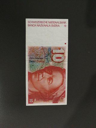 billete suiza 10 francs