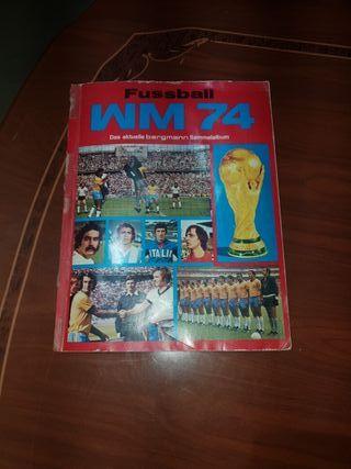 ALBUM CROMOS FUTBOL FIFA 1974