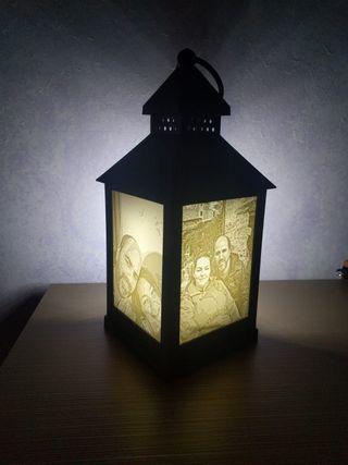 Candelabro con luz foto personalizado
