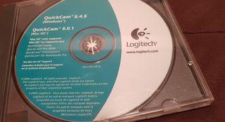 webcam Logitech con cd QuickCam 8.4.8 año 2005