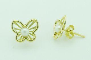 Pendientes de oro y perlas