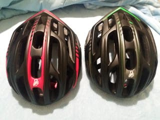 Cascos de ciclismo con LED trasera incorporadas