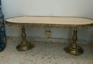 Mesa recibidor bronce