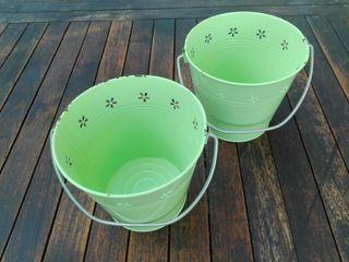 Lote 2 cubos decorativos color verde