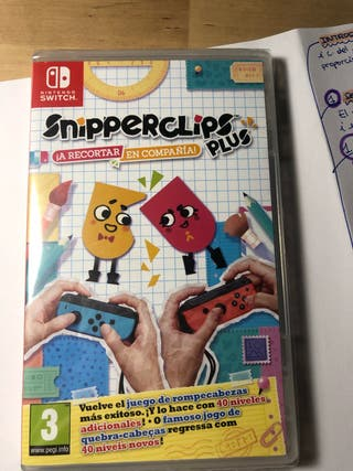 Snipperclips juego nintendo switch