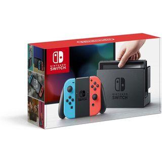Nintendo Switch roja y azul como nueva.
