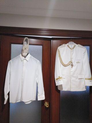 traje de comunión completo