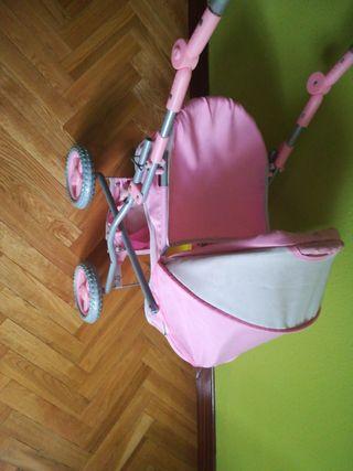 carrito de muñecas, manillar regulable