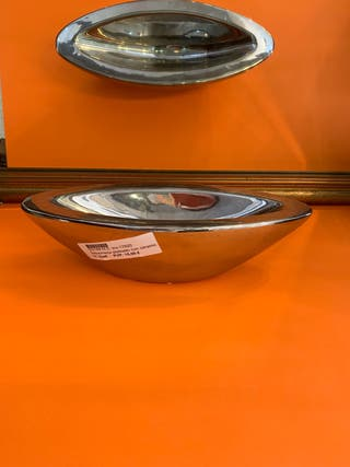Sobremesa plateado con ceramica