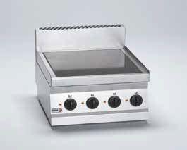 Cocina sobremesa eléctrica vitrocerámica 4 fuegos