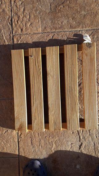 Baldosas madera jardin