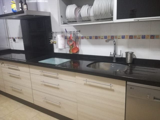 Mueble cocina encimera granito, frigo y horno de segunda ...