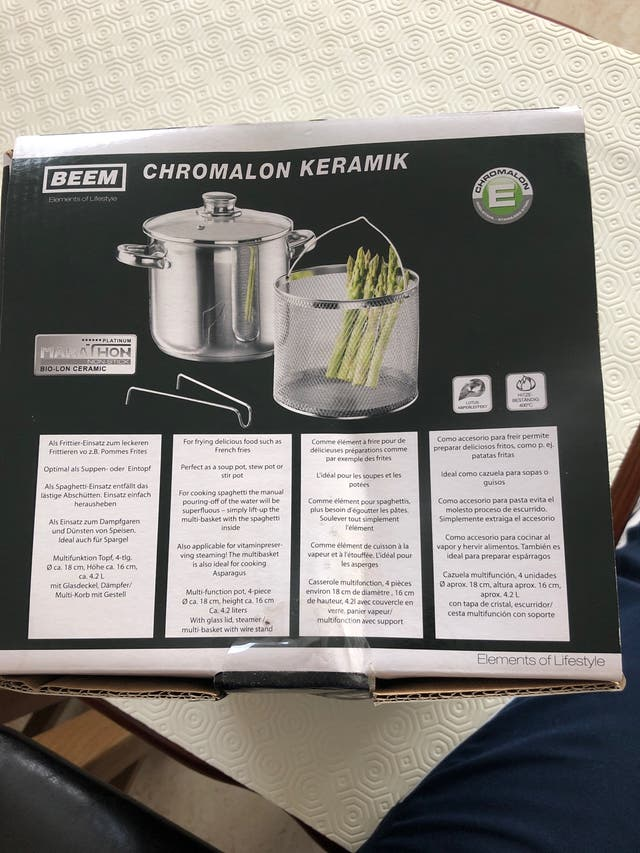 Chromalon multi function pot