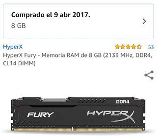 HyperX Fury - RAM 8 GB 2133 MHz, DDR4, CL14 DIMM