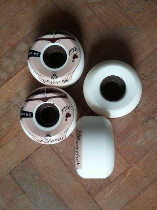 ruedas, skate, 54 mm