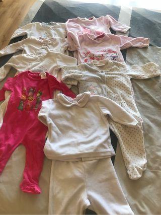 Lote 9 pijamas niña