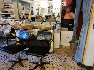 mobiliario de peluquería.