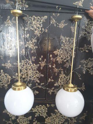 lampara antigua techo