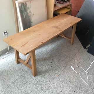 Banco madera roble