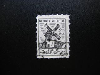 SELLO FISCAL TIMBRE MUTUALIDAD POSTAL 20 CTS