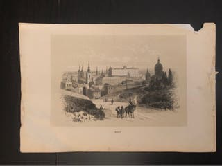 Antiguo grabado de Madrid.