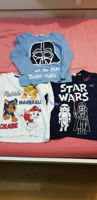 Lote 3 camisetas niño Star Wars