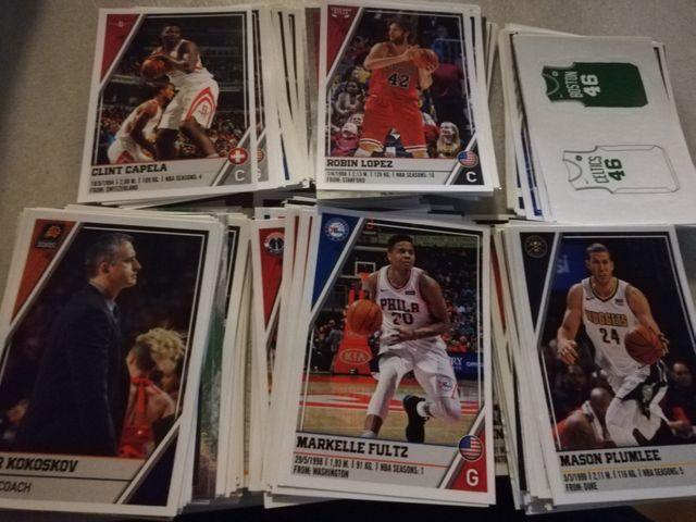 Lote más de 300 cromos panini NBA