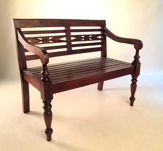 Banco de madera, decoración, sillón
