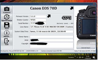 Cámara Reflex Canon EOS 70d