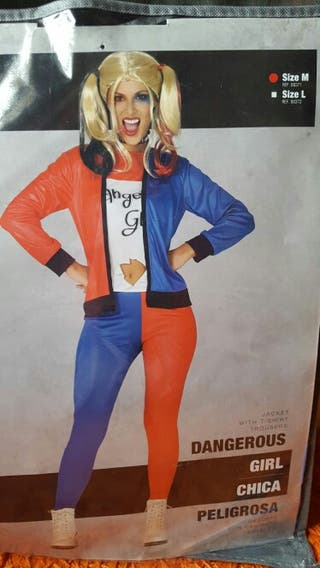 Disfraz de Harley Quinn + Peluca. Talla M